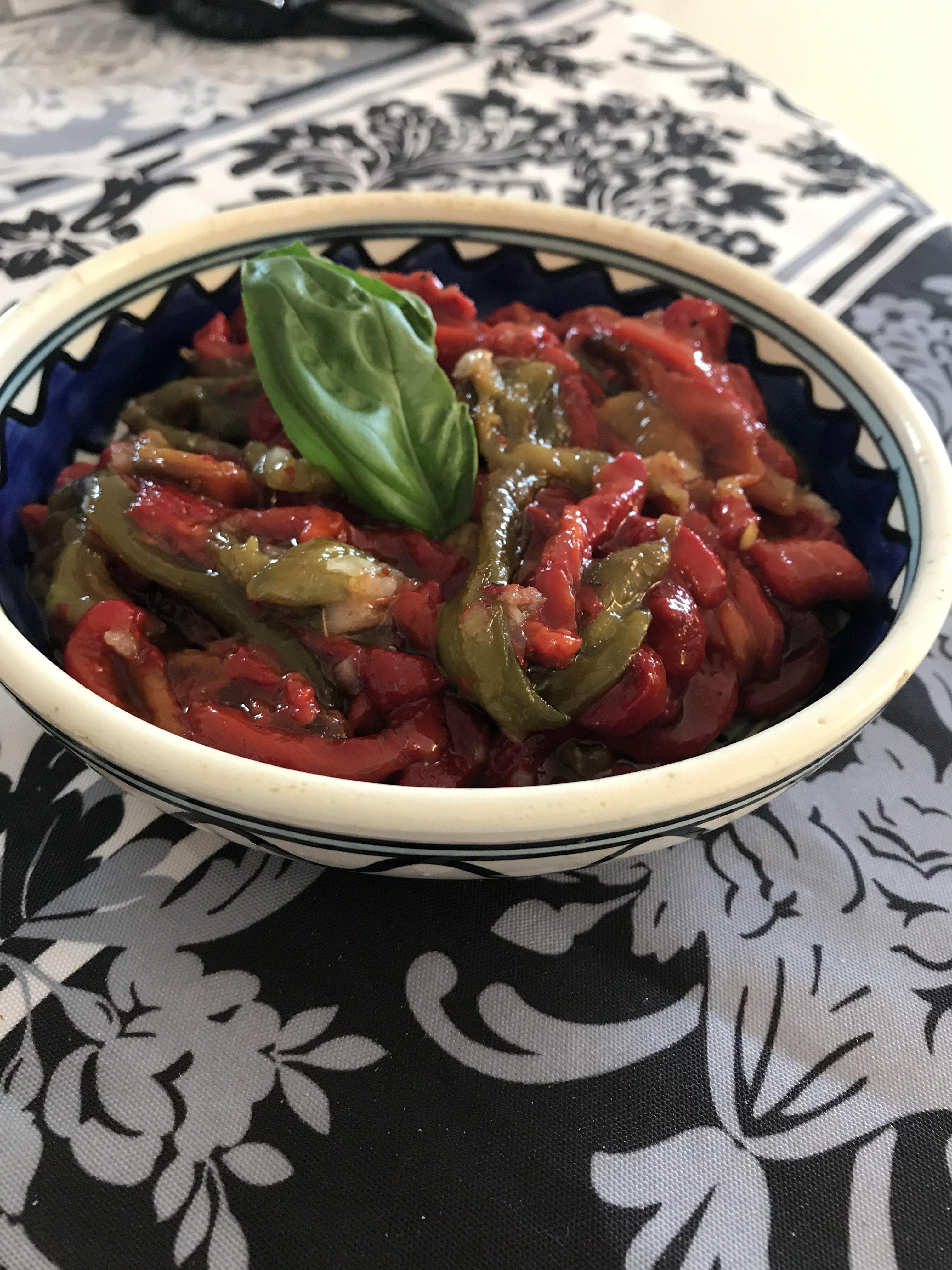 Poivrons a l huile d olive la cuisine de noam - Huile de carthame cuisine ...